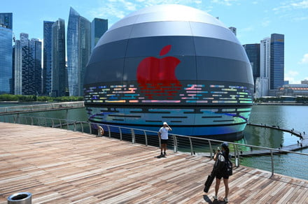 This new Apple Store in Singapore appears to float on water