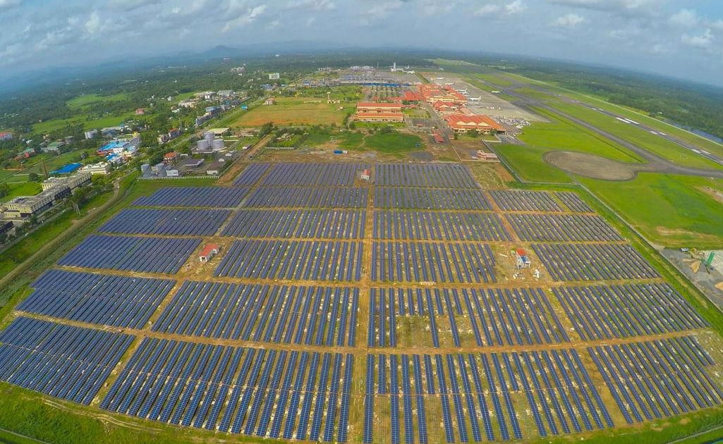 India now has the world's first solar-powered airport