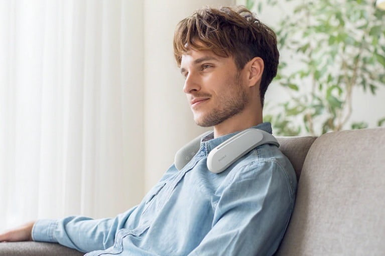 Sony's odd-looking wearable neck speaker makes movies more immersive