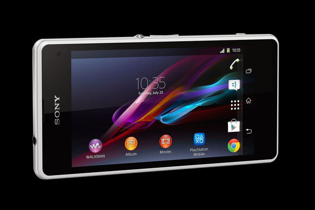 Sony Xperia Z1 Compact front angle landscape
