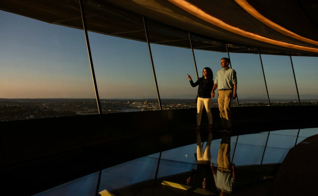 seattle space needle now has a revolving glass floor 8