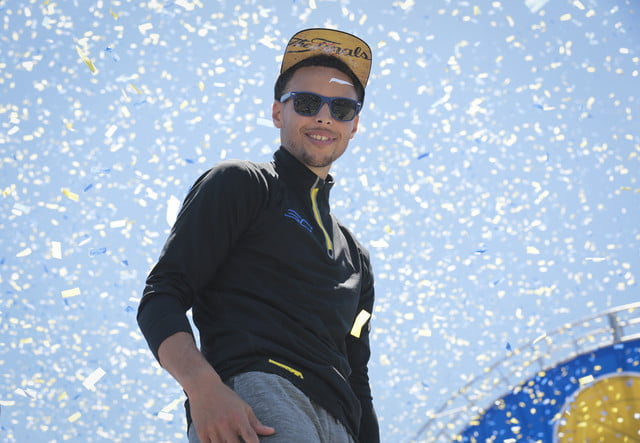 nba photographer jack arent steph curry during the 2015 championship parade