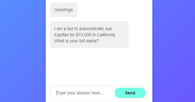 This ChatBot Could Help You Sue Equifax For Up To $25,000