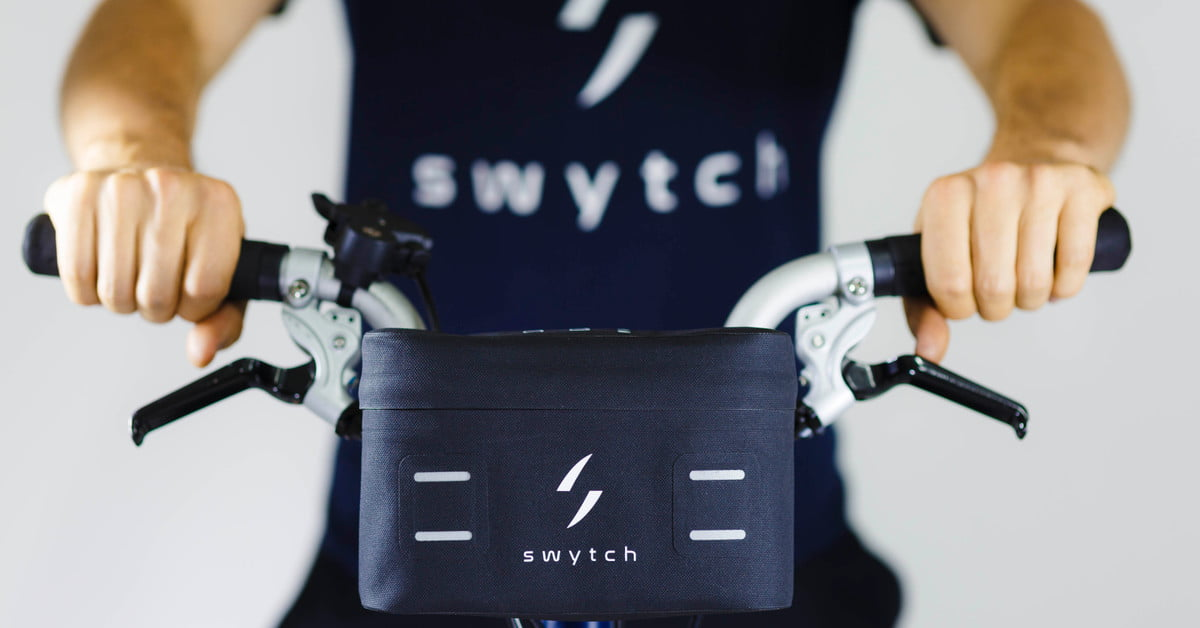 Compact Swytch Kit converts any bike to an e-bike for sustainable transport
