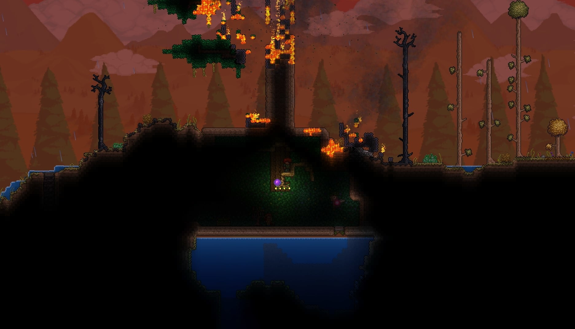 Best Terraria Mods Digital Trends Vangaurdtech Solar eclipse starts after a blood moon, then as i'm heading to my tree to start killing things from my rope a probe shows up and triggers an invasion. vangaurdtech