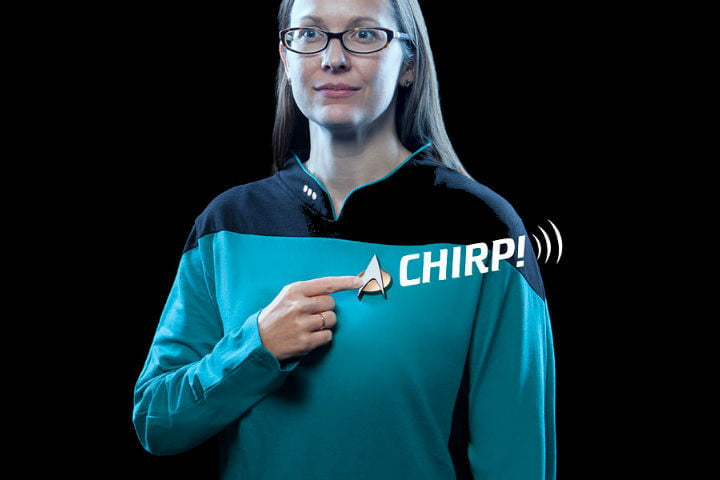 A Star Trek: The Next Generation comm badge that works