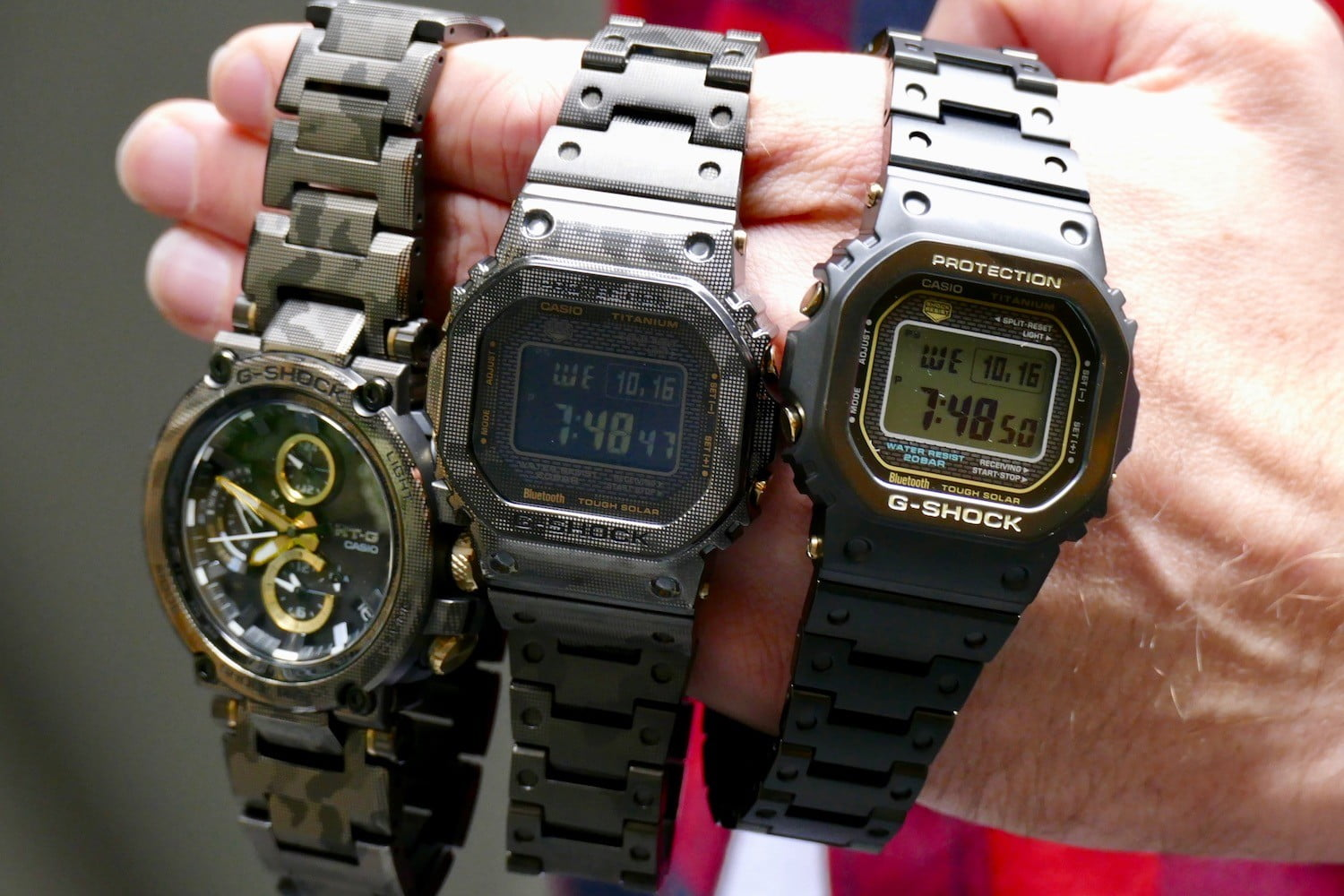 G-Shock casts new Bluetooth watches in strong, yet lightweight titanium