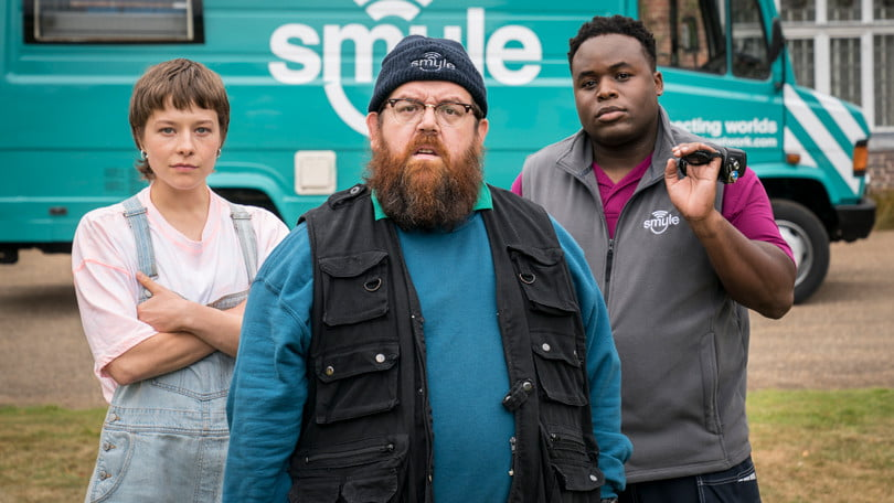 Emma D'Arcy, Nick Frost, Samson Kayo in Truth Seekers