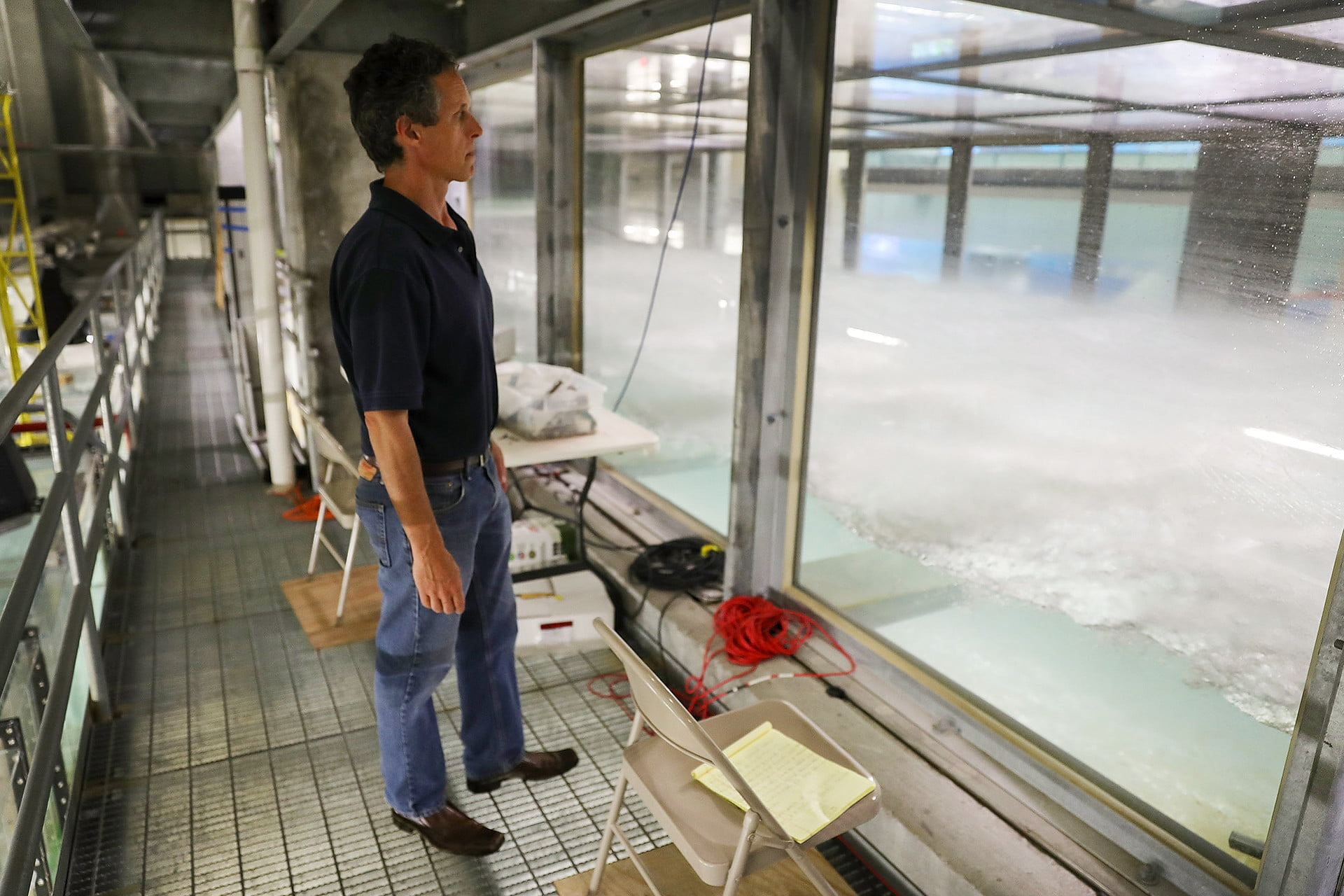 Conjuring catastrophes: Inside the world's largest hurricane simulator