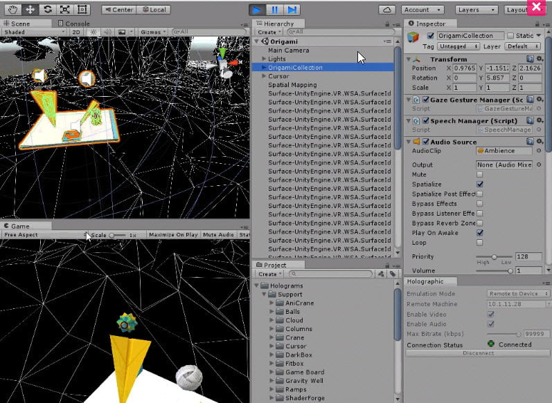 Unity 5 5 Updated to Include Windows Holographic Support
