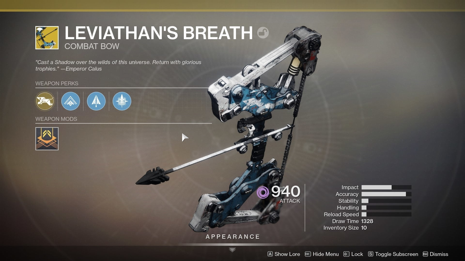 Destiny 2: Shadowkeep Leviathan's Breath exotic weapon quest