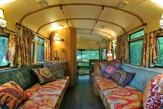 coolest bus to mobile home conversions vikingbusinside