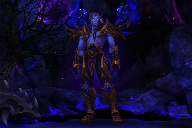 world of warcraft allied races guide void elf armor male
