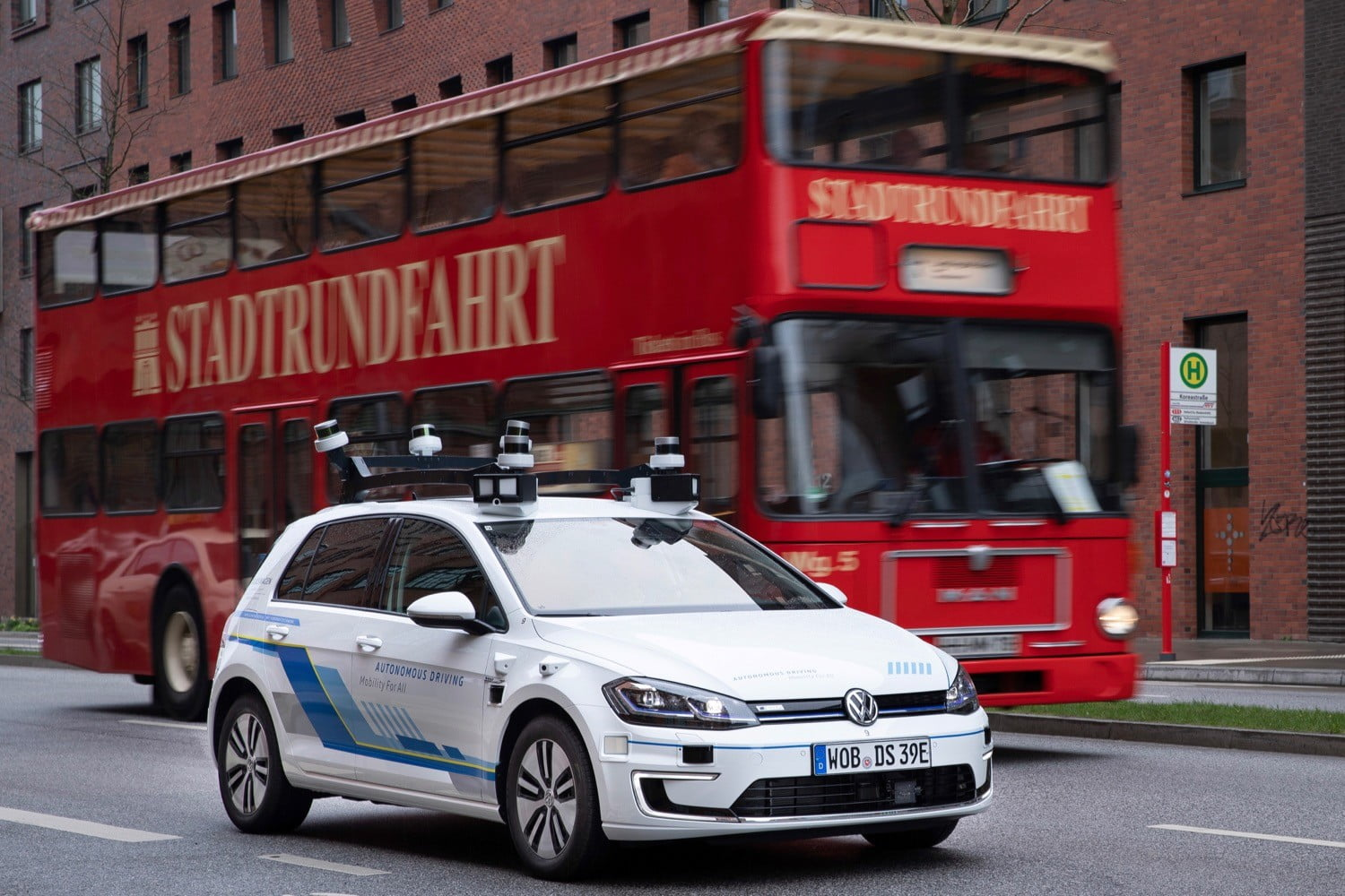 Volkswagen Tests Self-Driving Cars on Public Streets in