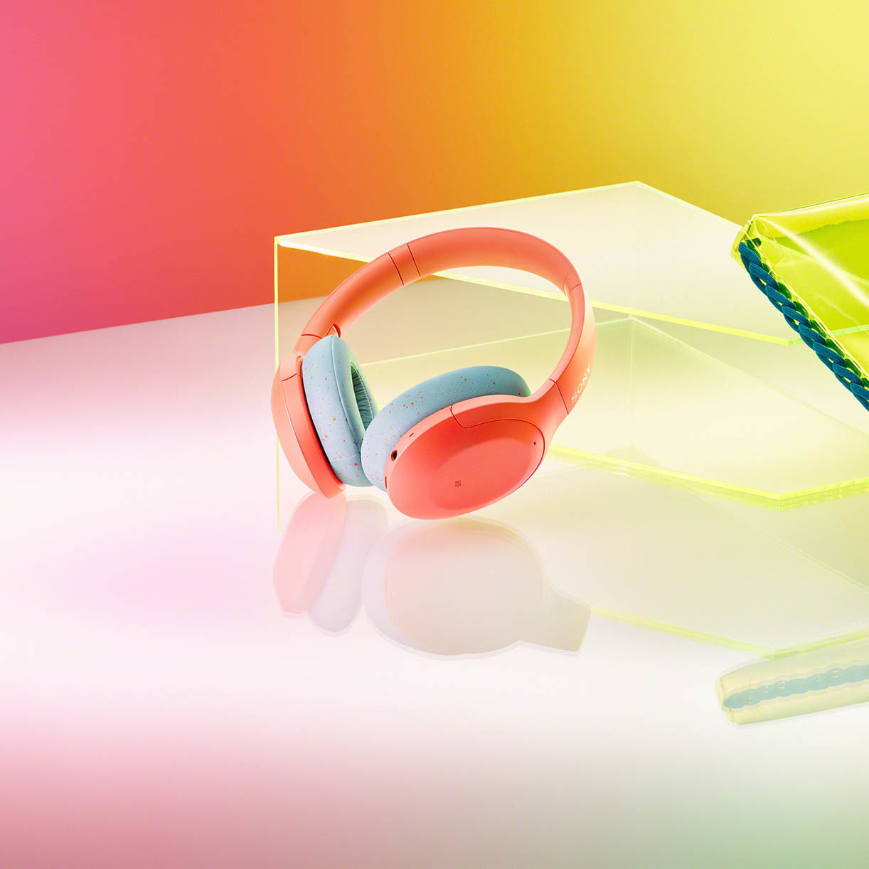 Sony's colorful, retro headphones are a perfect match for its funky new Walkman