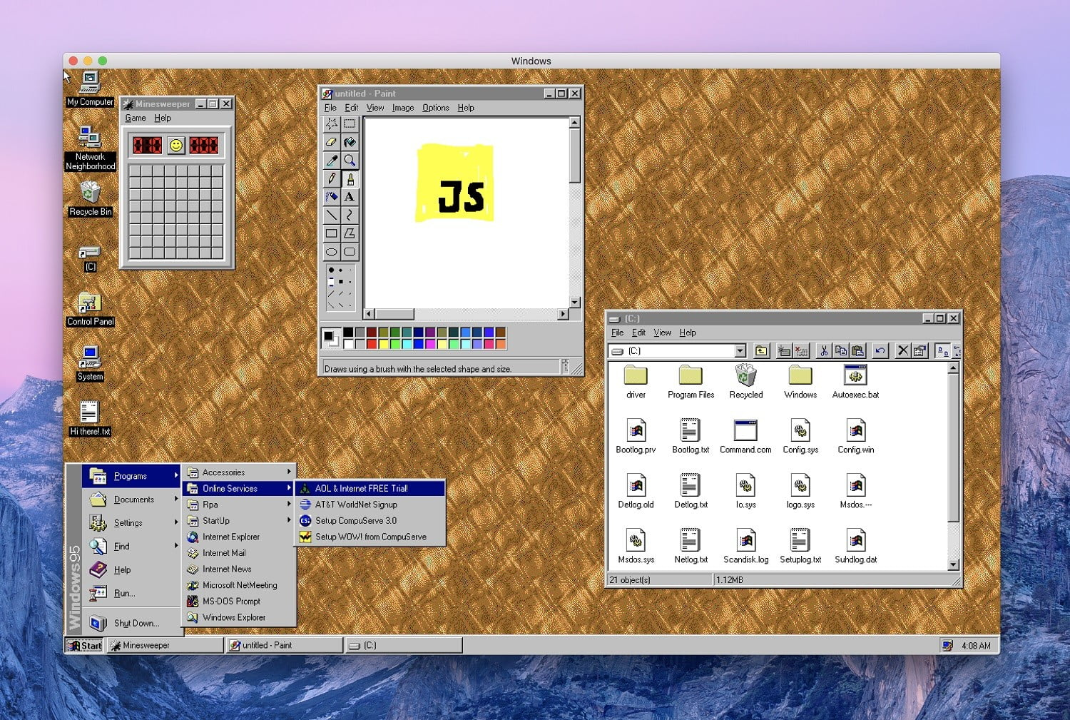 There's Now a Windows 95 App for MacOS, Windows 10, and