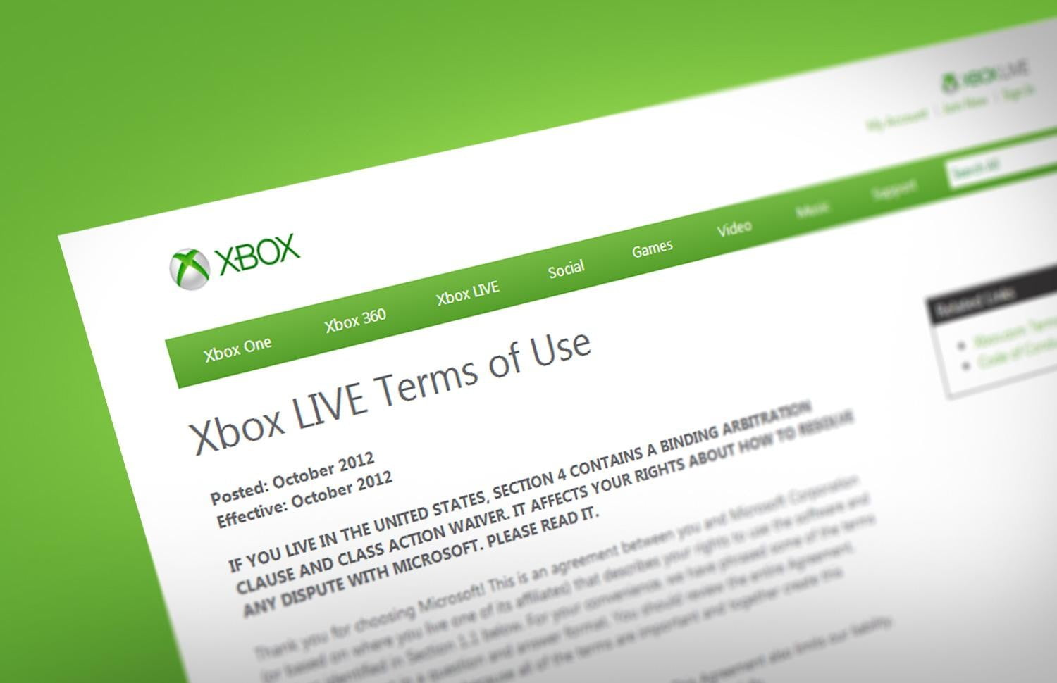 Terms & Conditions: Xbox Live and Kinect pose real privacy