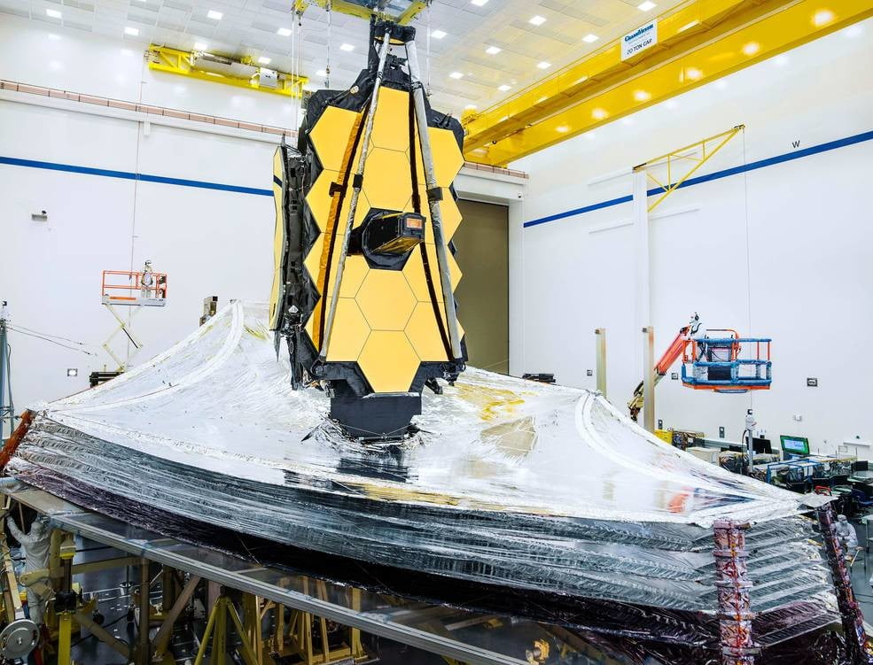 NASA's James Webb Telescope deploys its tennis court-sized sunshield in test