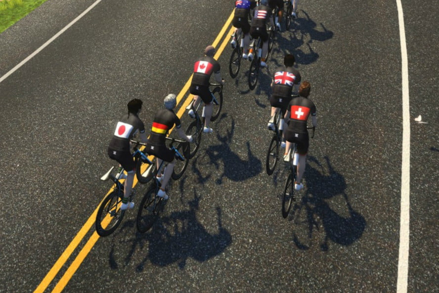 Bicycle Racers from 15 Countries Compete Virtually in Zwift