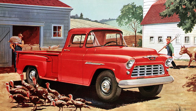 torque camionetas chevrolet 1955 3200 series half ton long wheelbase pickup with 265 cubic inch  4 3l v 8 engine rated at 162