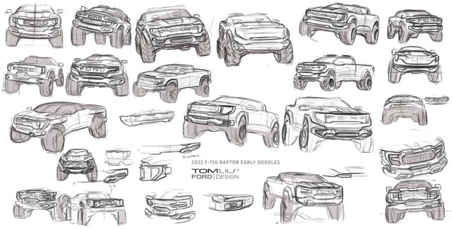 sketch 2021 Ford Raptor