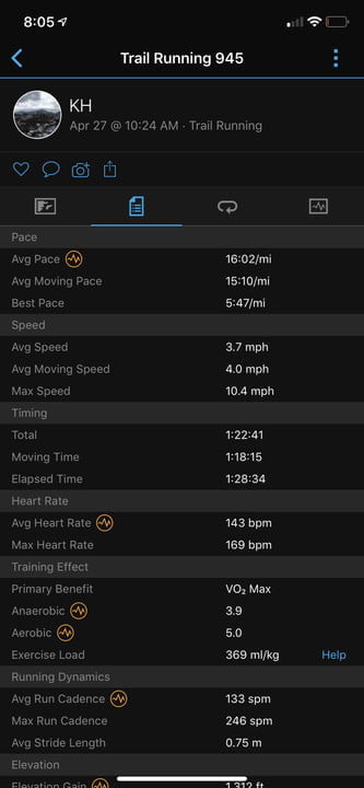 revision garmin forerunner 945 connect stats 720x720