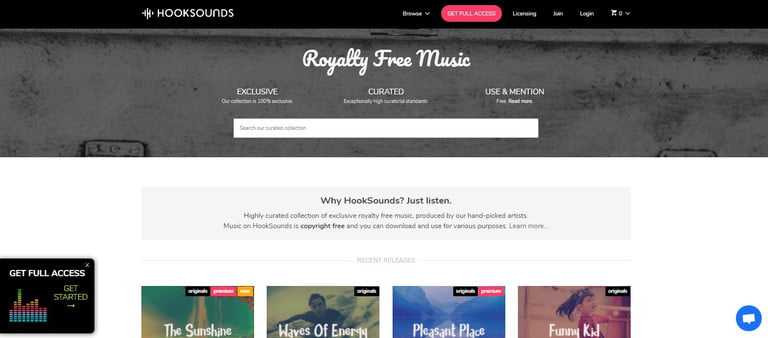 hooksound for free music