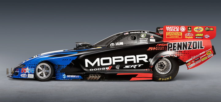 mopar dodge funny car nuevo modelo and  srt engineers worked in unison with the don schumacher racing dsr team creating 2019