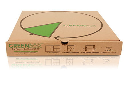 greenbox cajas de pizzas verdes para protejer el medio ambiente products