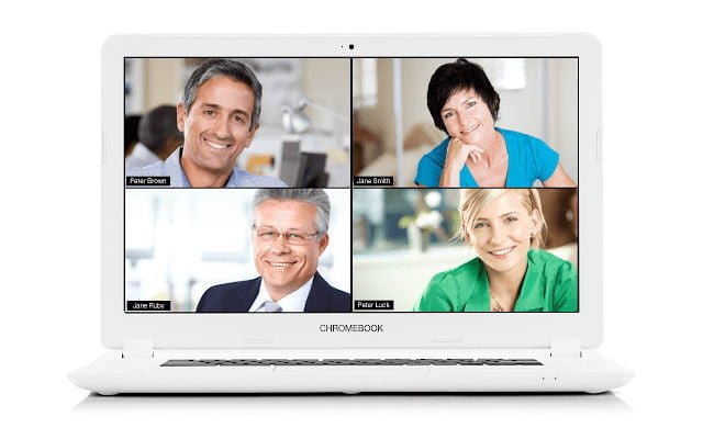 Main interface of a video conference