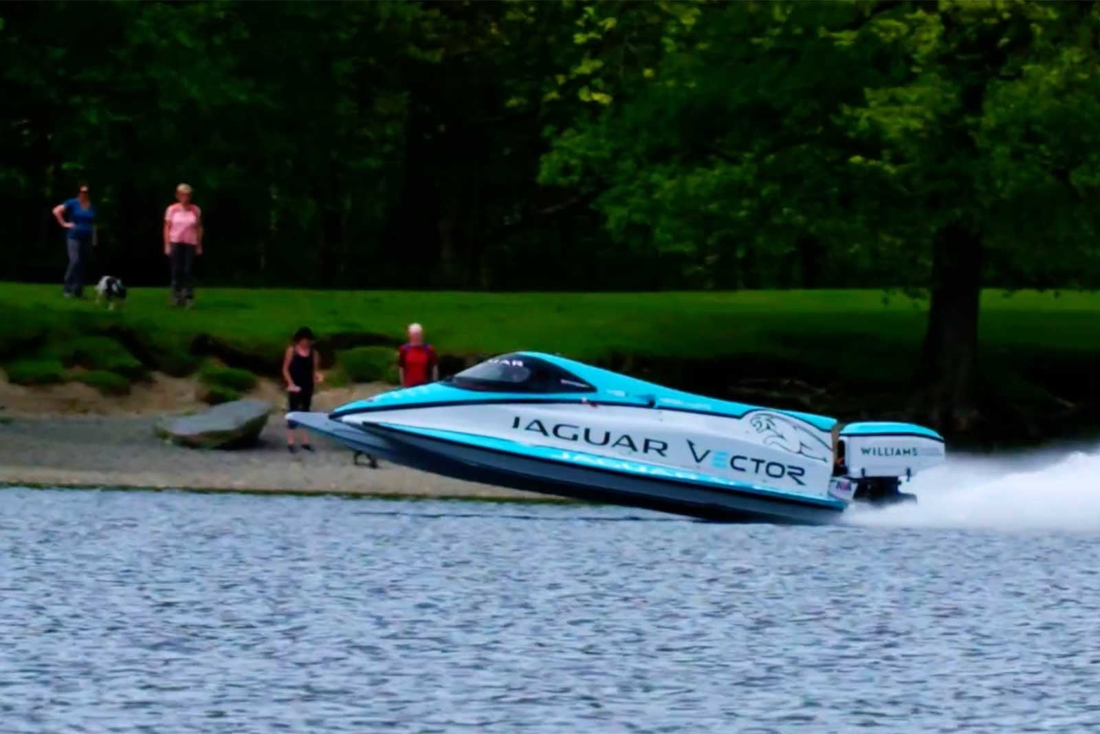 Jaguar smashes a world record for the fastest electric speedboat