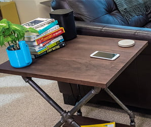Impress your guests (and top off their phones) with this DIY wireless charging table
