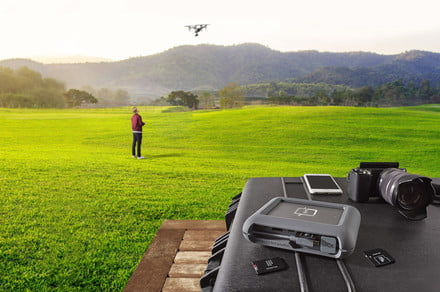 Screen-sporting LaCie DJI Copilot hard drive enables on-site backups sans laptop