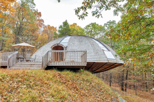 rotating domespace home is for sale dome roatating outside