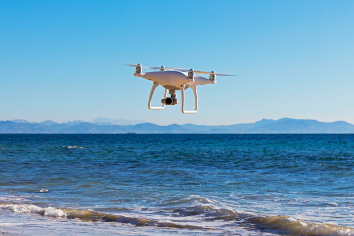 machine learning drone plastic problem over water getty