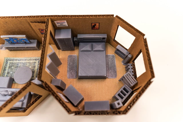 Engineer plans his apartment floor layout by 3D-printing a scale model