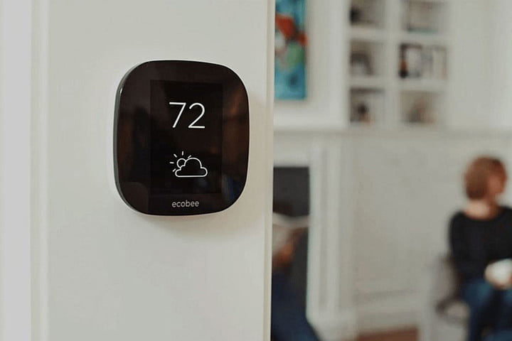 Ecobee4 smart thermostat close