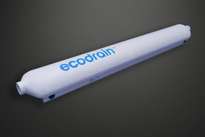 EcoDrain recycles the wasted heat from your shower water