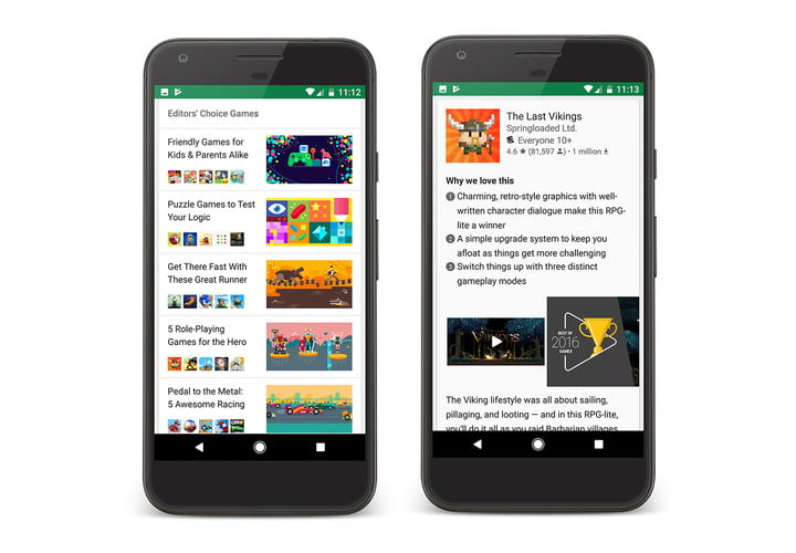 google play store editorial pages googleplay