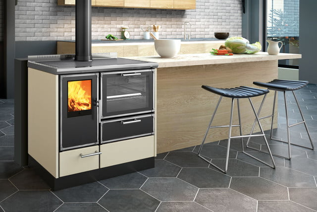 Here\'s a modern take on the wood-burning stove. Are you stoked?