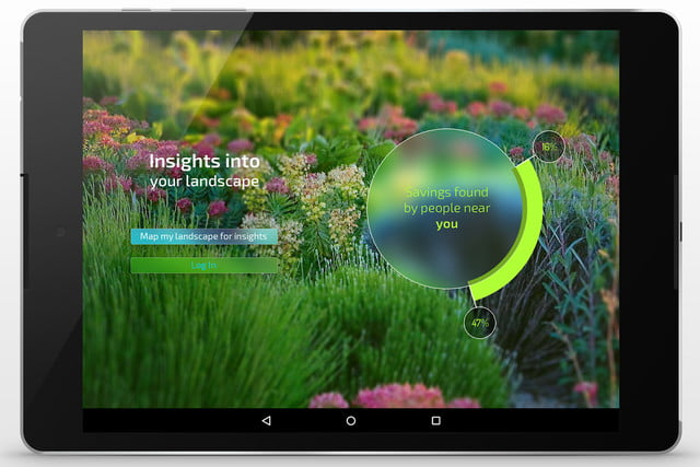 etwaters unity app shows you if are overwatering your lawn et tablet water 1