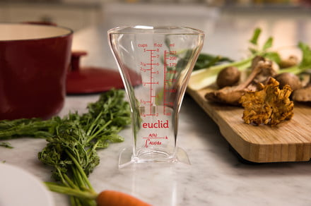 The Euclid measuring cup keeps you from adding too much liquid while cooking
