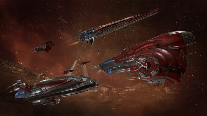 how will free to play players change eve online new ship skins red