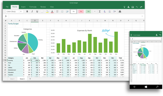 office 2016 and for windows 10 coming later this year excel ui 900x530
