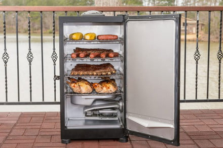 Get cooking with a Masterbuilt meat smoker, now $230 off