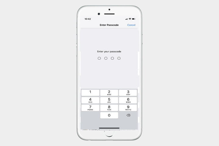 Face ID Password Screen