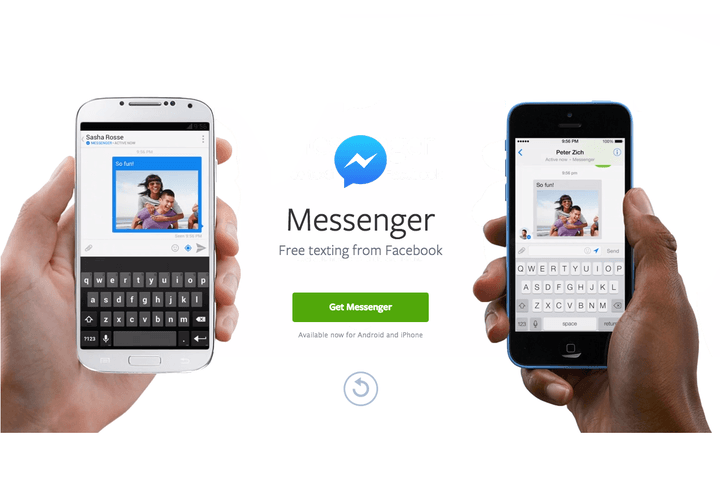 facebook messenger app now has sms texting features digital trends rh digitaltrends com Texting Effects On Communication Skills Community Smart