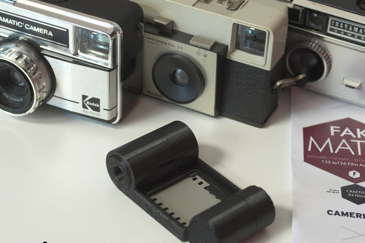 Got an old Instamatic? This 3D-printed adapter will convert it to 35mm