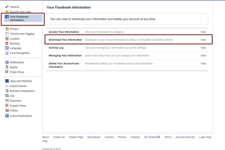 how to delete your facebook account fbinfo