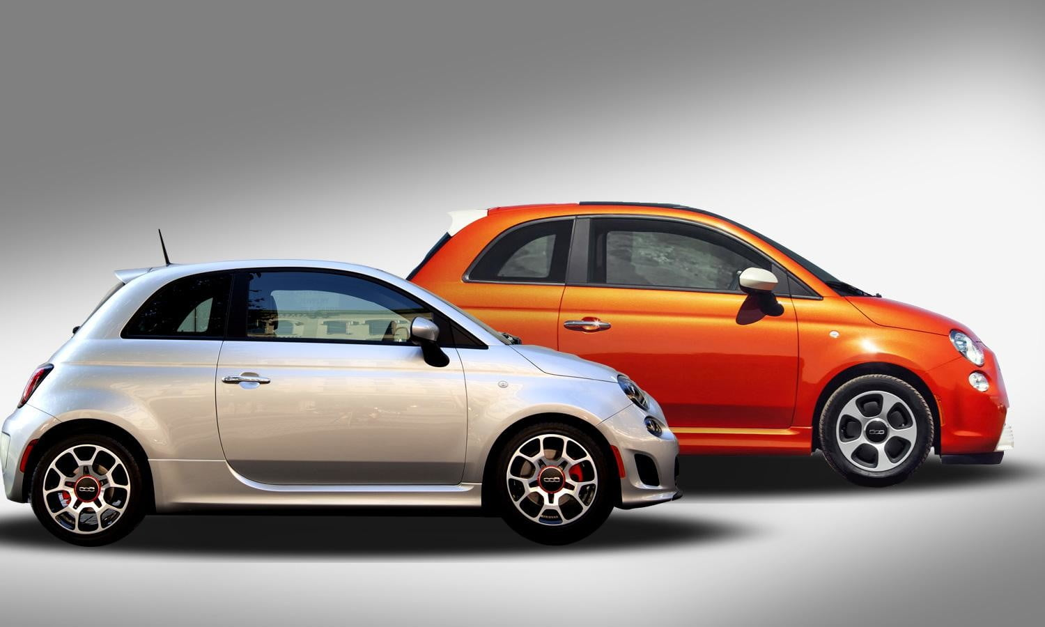 Same body, very different guts: Fiat 500 Turbo and Fiat 500e EV square off